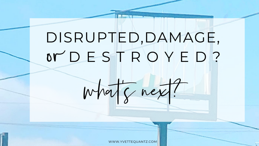 disrupted, damaged, or destroyed? What's next
